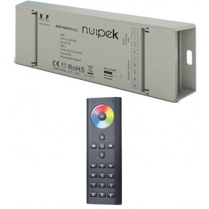 Controlador RGB+W para 6 zonas por radio frecuencia SERIE ADVANCED